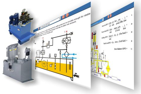 Hydraulic power unit simulations