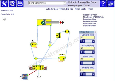 hydraulic training simulation software