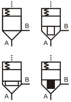 Hydraulic symbols7 on schematic circuit diagram